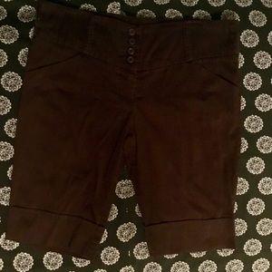 My Michelle Dark Brown Bermuda Shorts